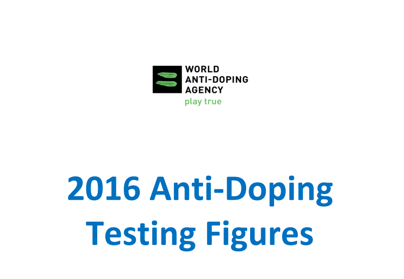 WADA have reported an increase in adverse analytical findings in 2016 ©WADA