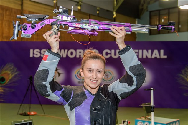 Andrea Arsovic claimed ISSF World Cup Final gold for the second straight year ©ISSF
