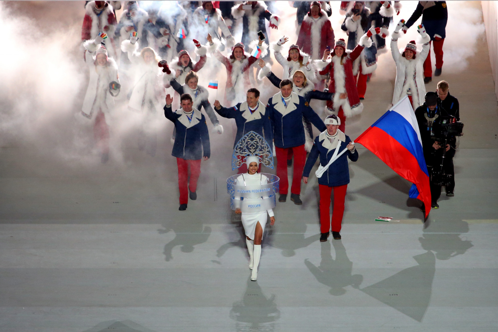 Russia athletes pictured at the Opening Ceremony of Sochi 2014 ©Getty Images
