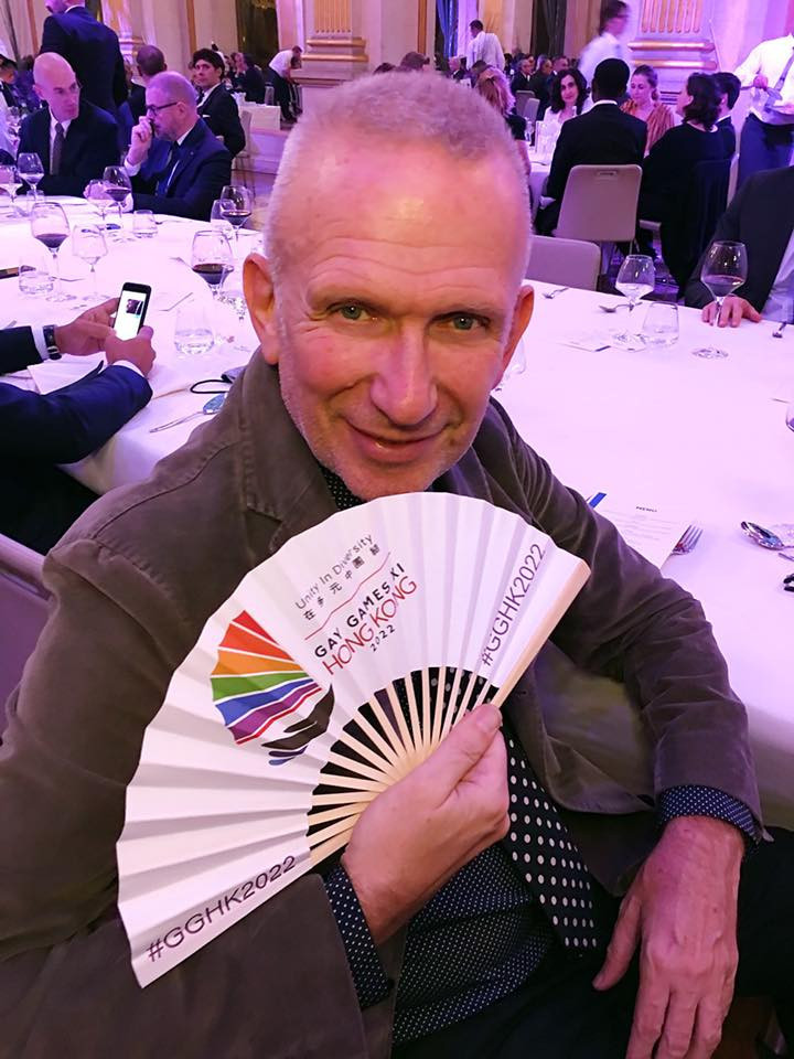 French fashion designer Jean-Paul Gaultier was among the supporters of Hong Kong 2022 ©Hong Kong 2022