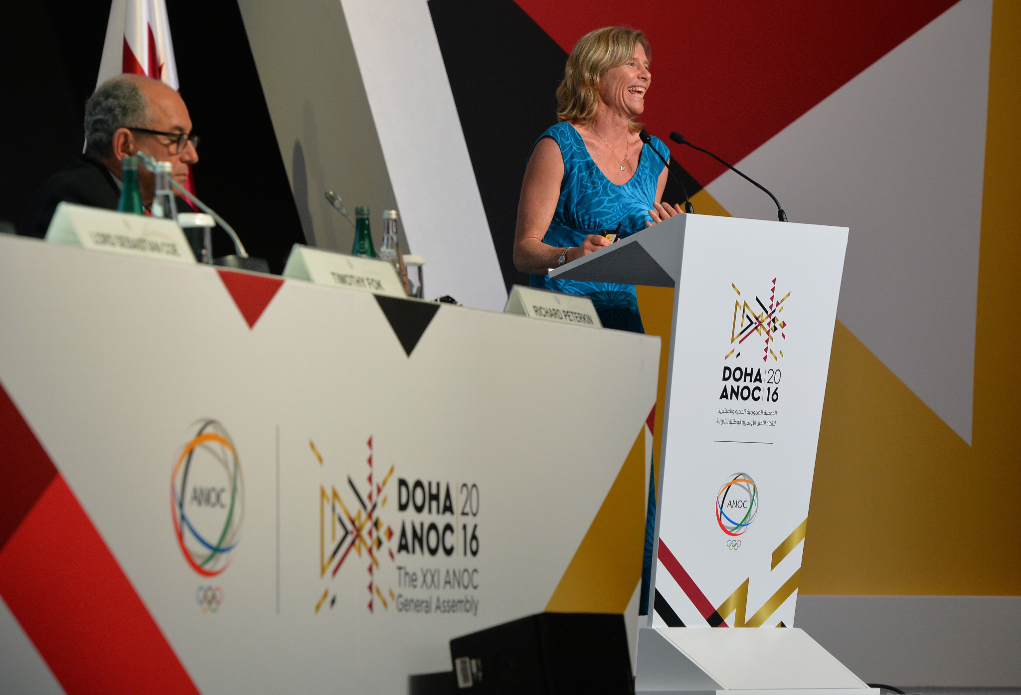 Barbara Kendall will remain as chair of the ANOC Athletes' Commission for one more year ©Getty Images