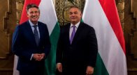 IAAF President Sebastian Coe met Hungary's Prime Minister Viktor Orbán during a visit to Budapest ©Hungarian Government