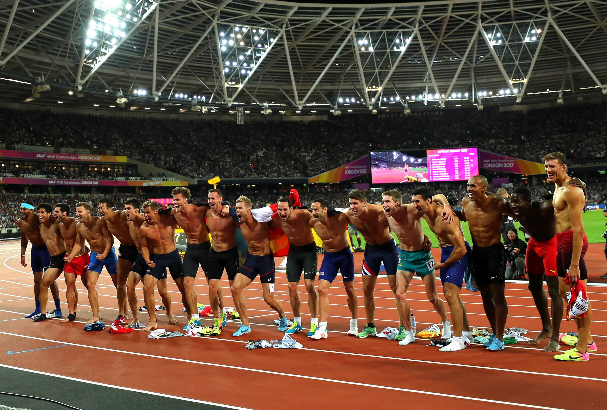 Great friendship exists between decathlon competitors ©Getty Images