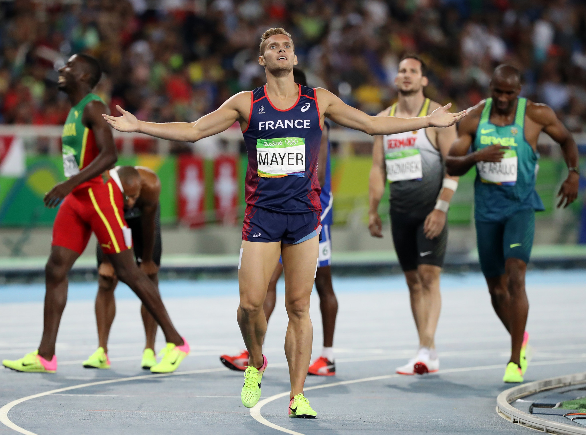 It has been suggested that the decathlon's 1,500m could begin with a staggered start ©Getty Images