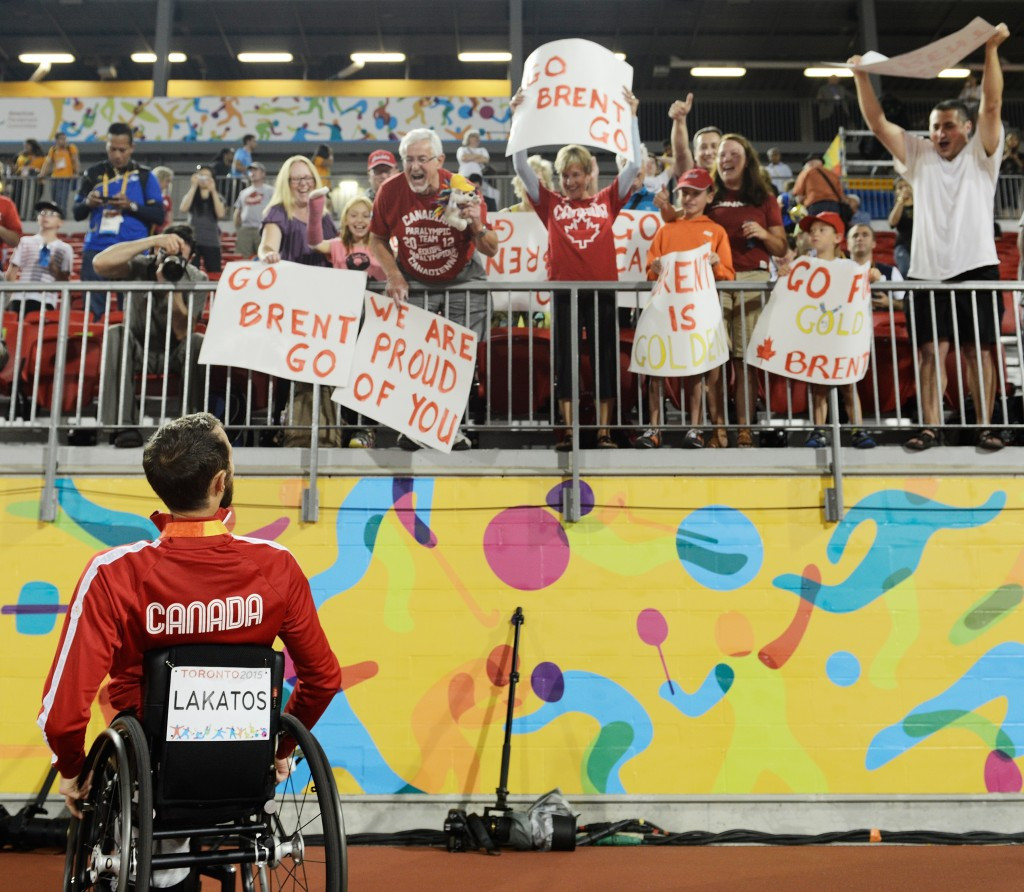 Brent Lakatos claimed gold in the men's T53 400m on the final day of athletics