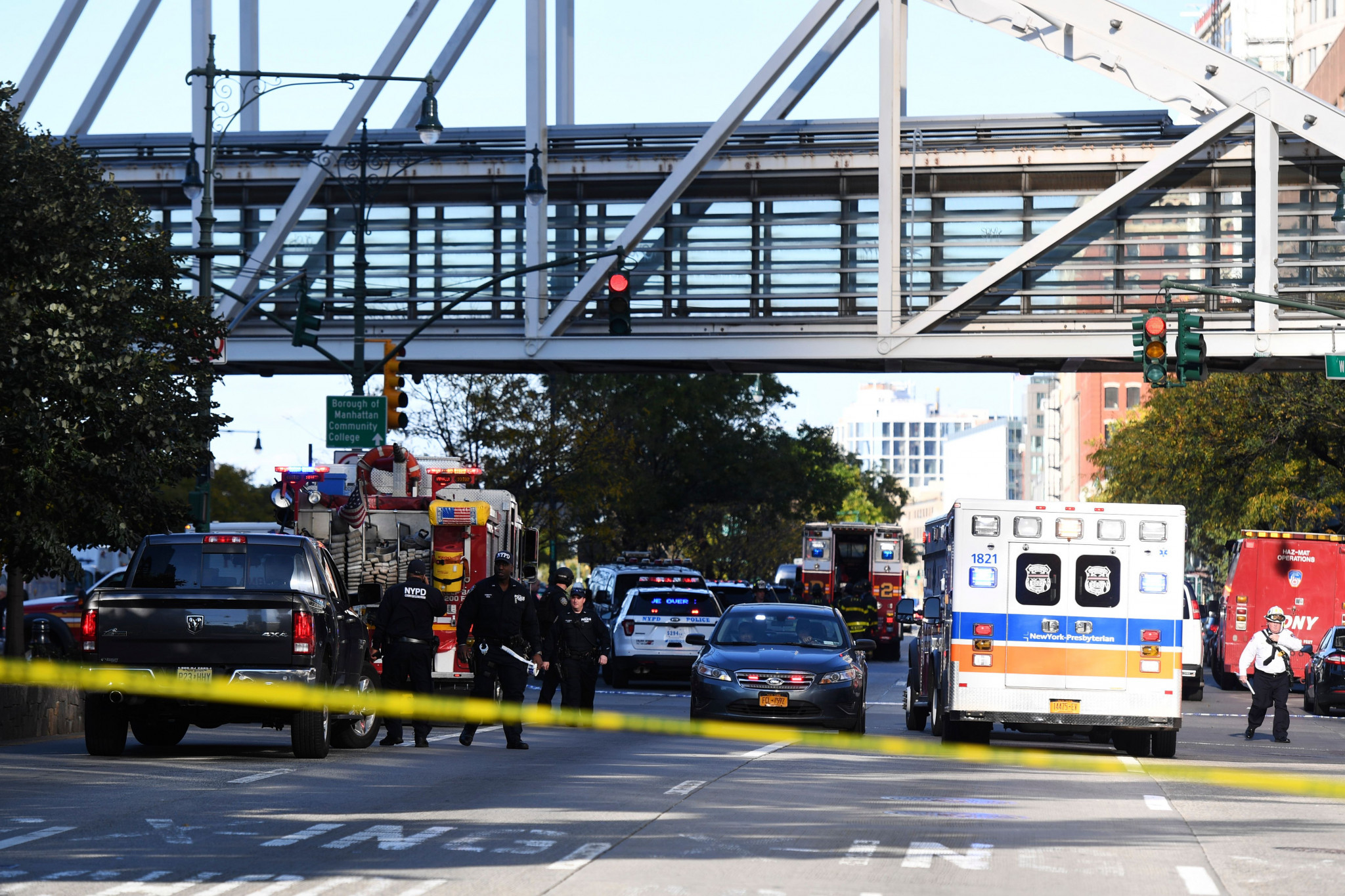 Eight people lost their lives when 29-year-old Sayfullo Saipov rented a pick-up truck and deliberately drove into cyclists for a mile-long stretch of the Hudson River Park's bike path ©Getty Images