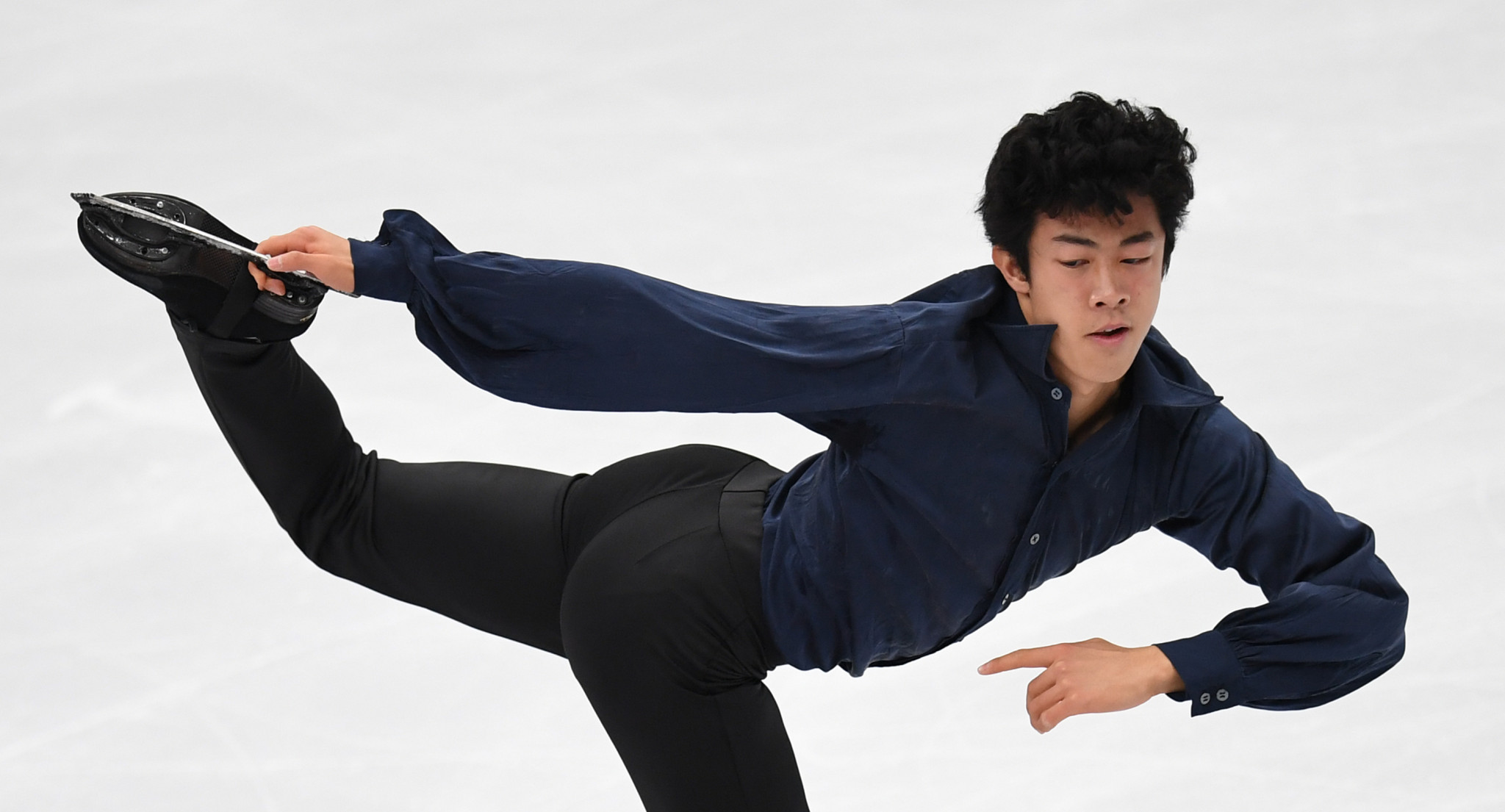 Nathan Chen of the United States, seen here competing during the senior men's short programme at the ISU Grand Prix Rostelecom Cup in Moscow on October 21, 2017, is among the October nominees for Team USA awards ©Getty Images
