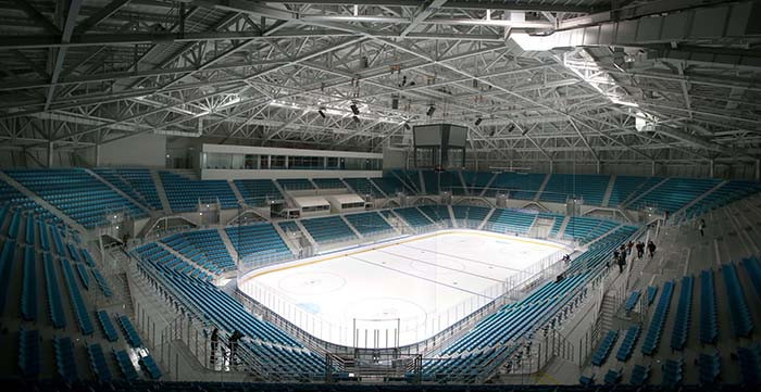 The Gangneung Hockey Centre is finished and ready to host events for Pyeongchang 2018  ©Korean Government