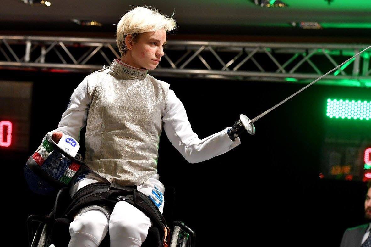 """Paralympic champion Beatrice Vio clinched the gold medal in the women's foil """"B"""" category on home soil ©Twitter"""