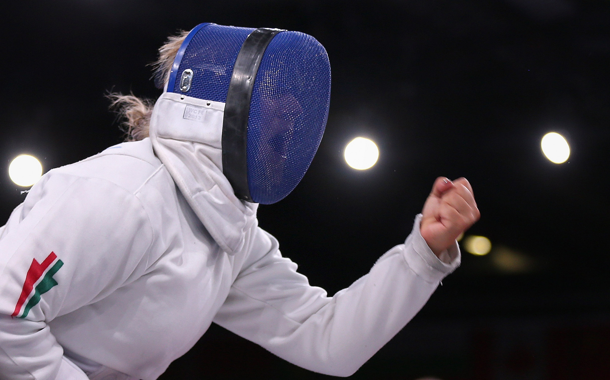 Zsuzsanna Krajnyák won an all-Hungarian final to top the podium in the women's foil A category ©Getty Images