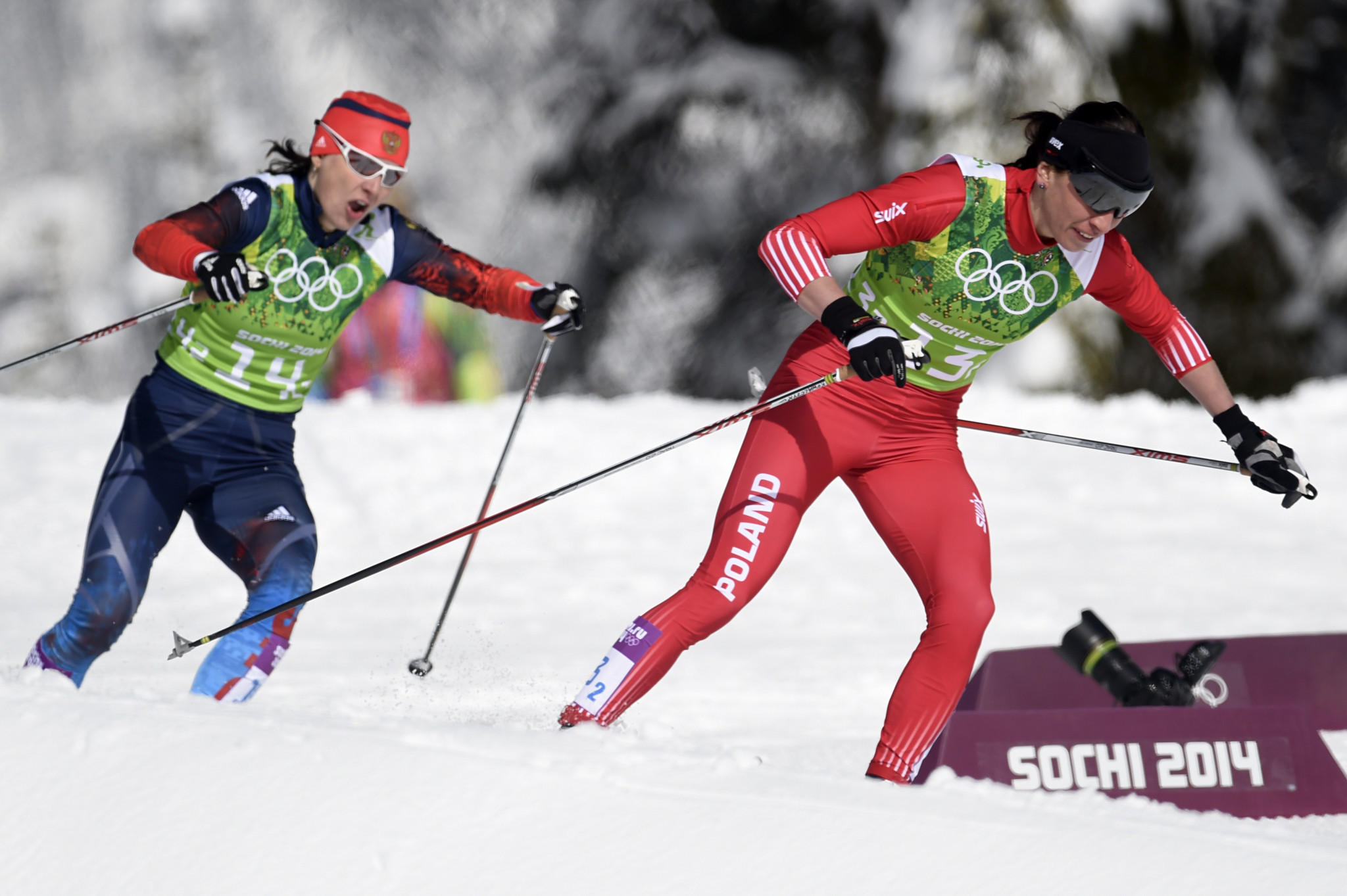 Julia Ivanova, left, is among four Russian cross-country skiers disqualified by the IOC today ©Getty Images