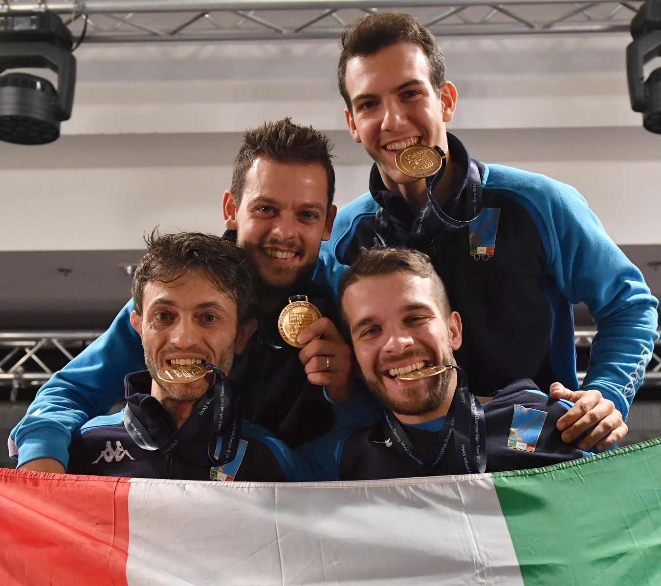 Italy won two team titles to add to their victory yesterday ©IWAS