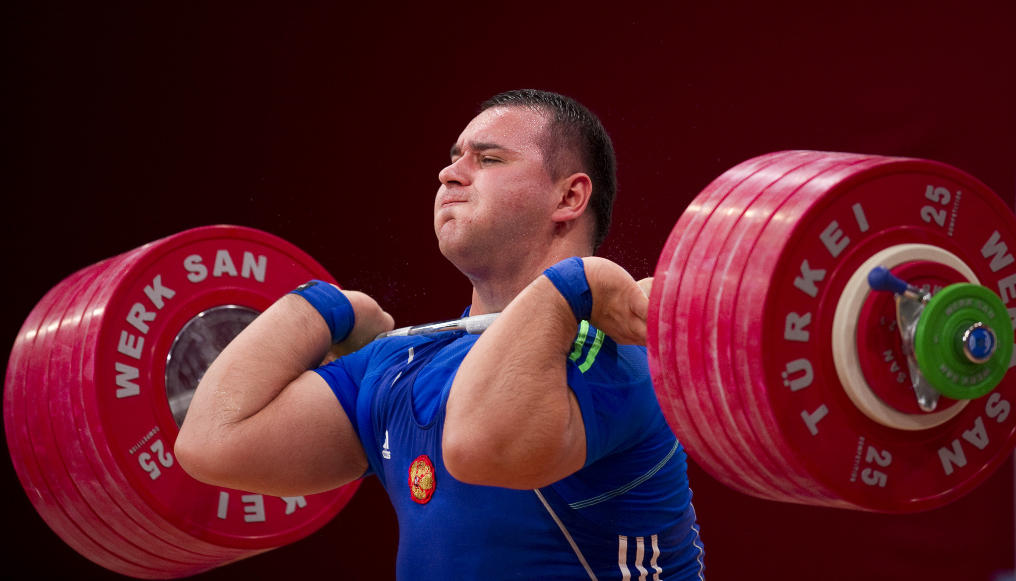 Ruslan Albegov has been banned for doping by the IWF ©Getty Images