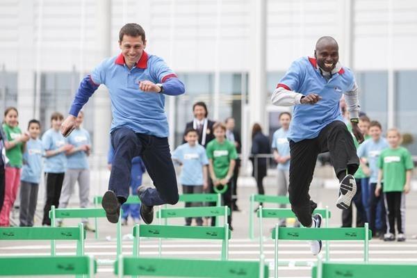 IAAF hosts Kids' Athletics programme as high-profile stars take part