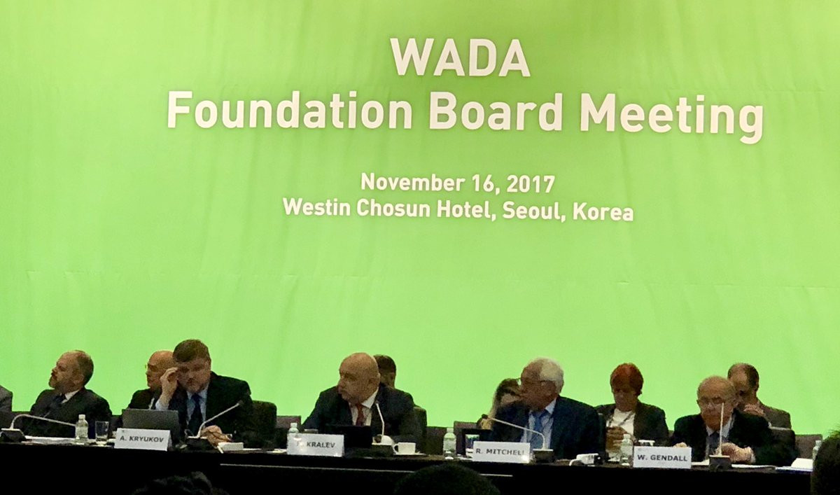 The World Anti-Doping Agency Foundation Board were told that the Russian Anti-Doping Agency were still not compliant with its Code and should not be reinstated ©ITG