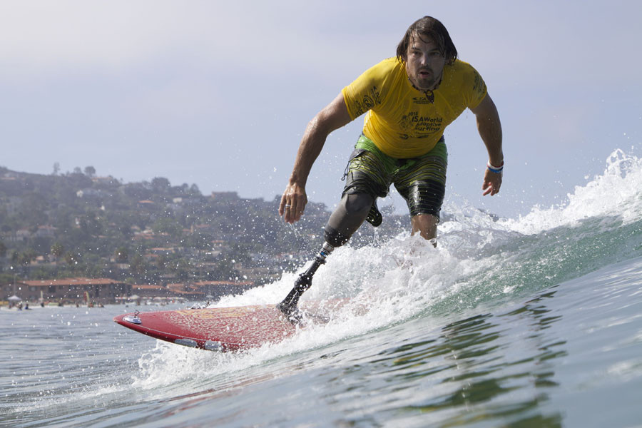 Surfing is one of 11 sports applying for inclusion on the Paralympic Games programme at Paris 2024 ©ISA