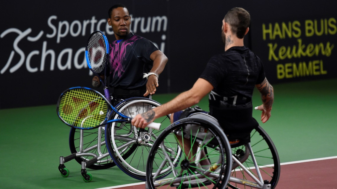 Top seeds make winning start in quad doubles at the Wheelchair Doubles Masters