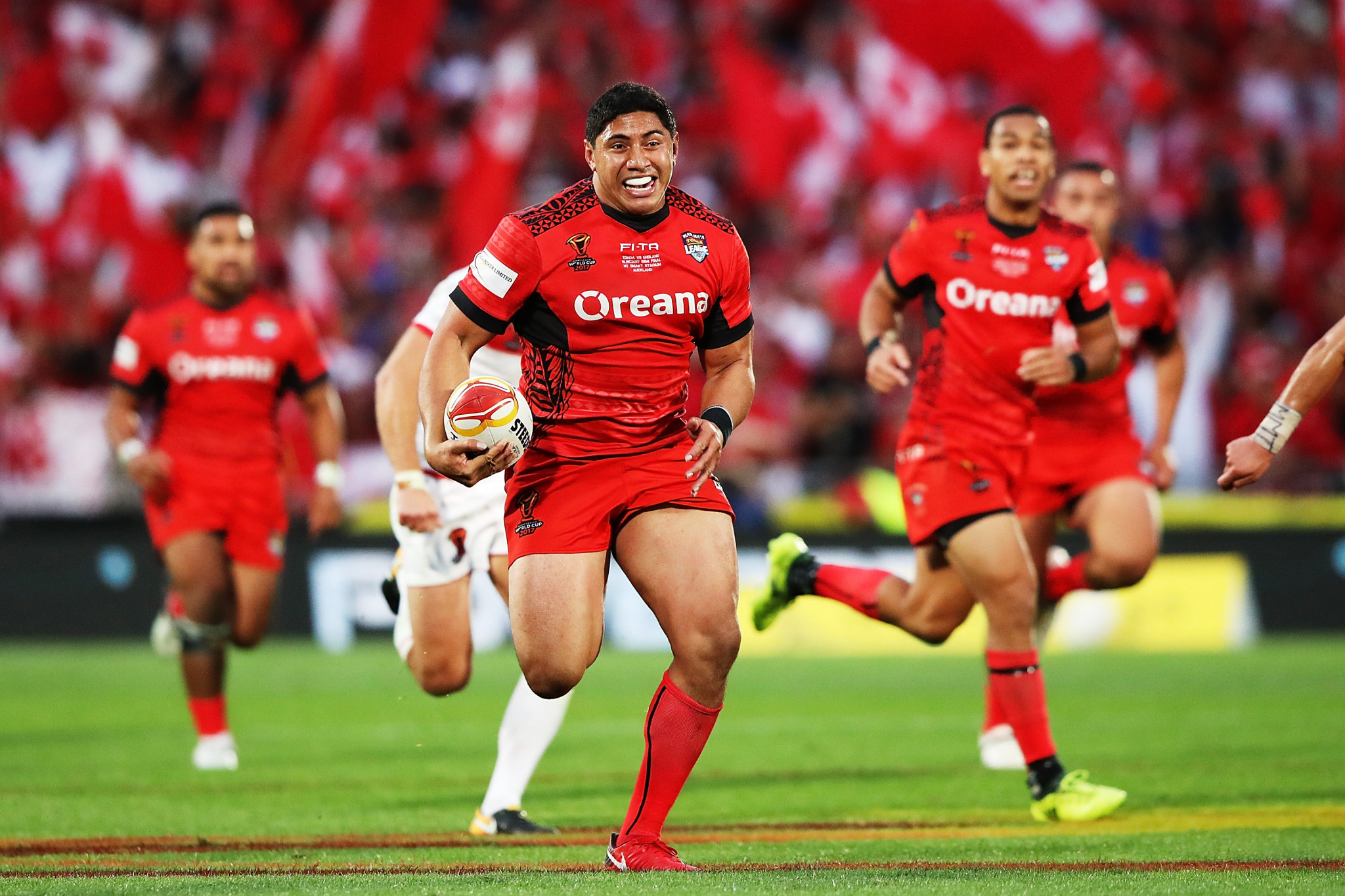 A late Tonga surge saw the Pacific nation threaten a dramatic comeback ©Getty Images