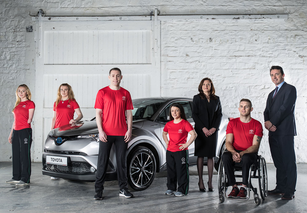 Toyota Ireland has signed on as an official partner of Paralympics Ireland for Tokyo 2020 and Paris 2024 ©Paralympics Ireland