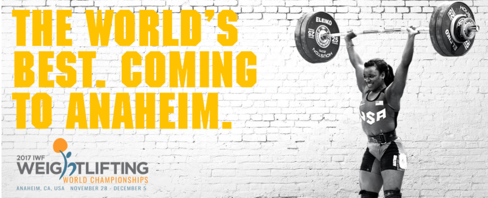 The 2017 IWF World Championships are set to begin in Anaheim tomorrow ©USA Weightlifting
