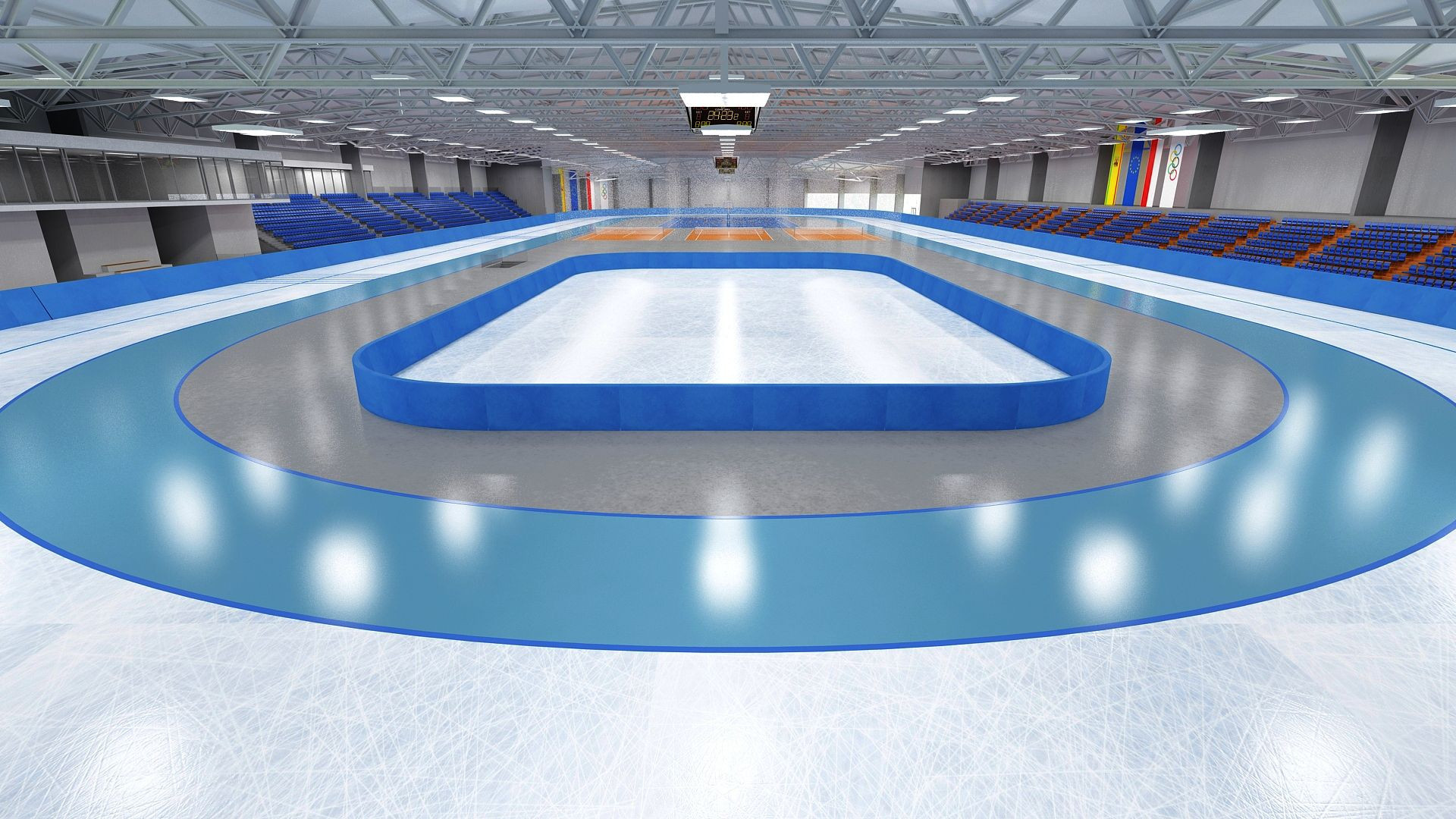 Poland's first speed skating arena has been opened ©Four Design