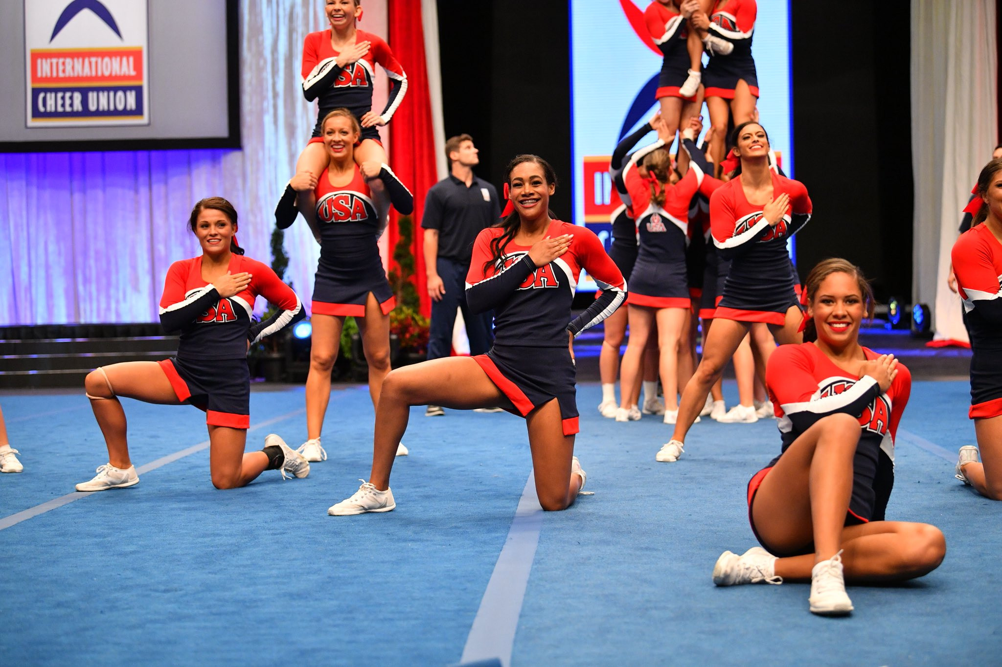 """""""We are proud to send the University of Kentucky to represent the United States of America,"""" says Lauri Harris, executive director of USA Cheer ©USACheer/Twitter"""