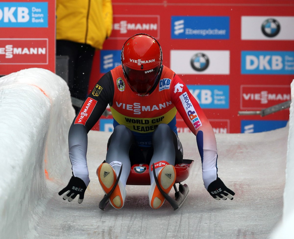 Felix Loch claimed victory at the Luge World Cup in Altenberg ©FIL