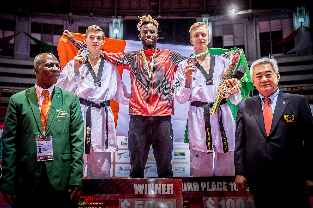Cheick Sallah Cissé won the men's under 80kg event at the Grand Prix final ©World Taekwondo
