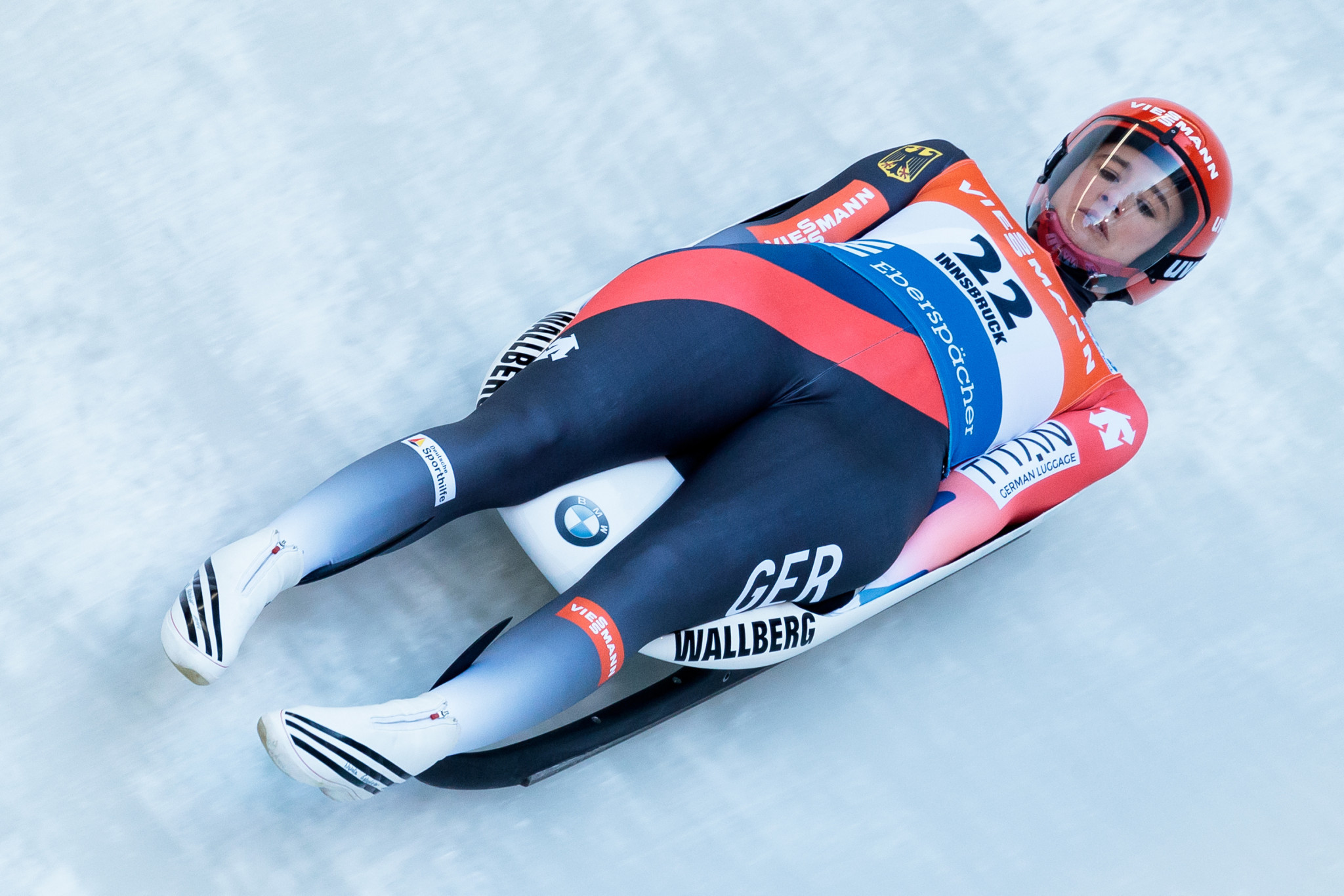 Natalie Geisenberger led a German clean sweep of the luge ©Getty Images