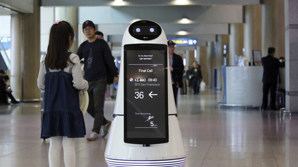 Robots developed by LG are already on duty at Incheon International Airport in South Korea ©Getty Images