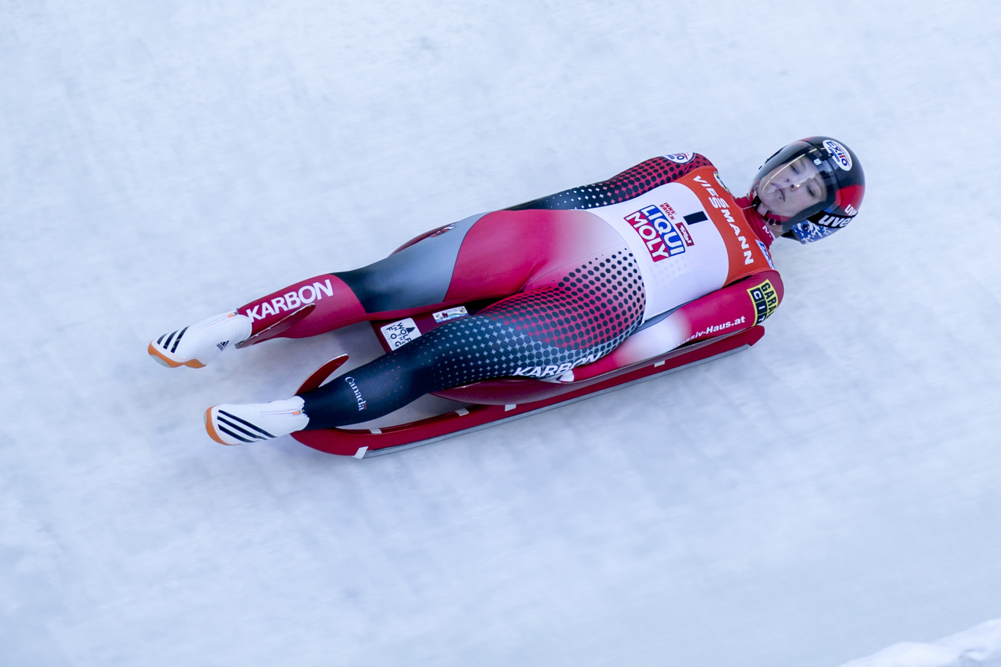 Canada's Alex Gough is looking forward to home comforts at the fourth leg of the International Luge Federation World Cup season ©Getty Images