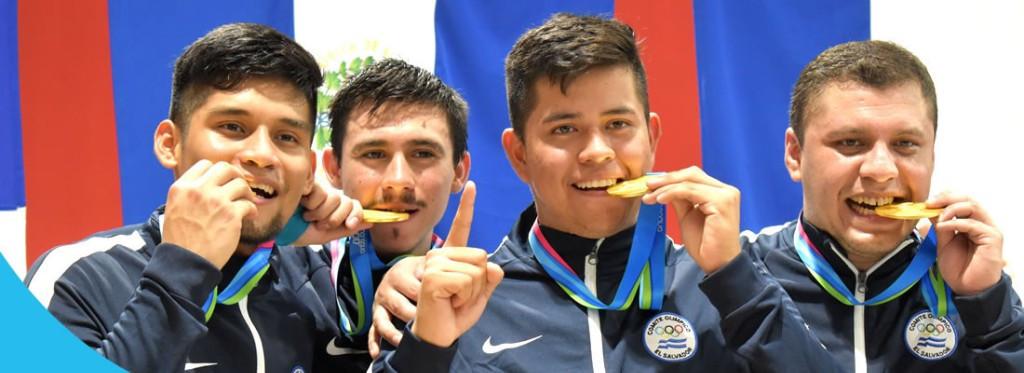 El Salvador won double gold at the team fencing finals began ©Managua 2017