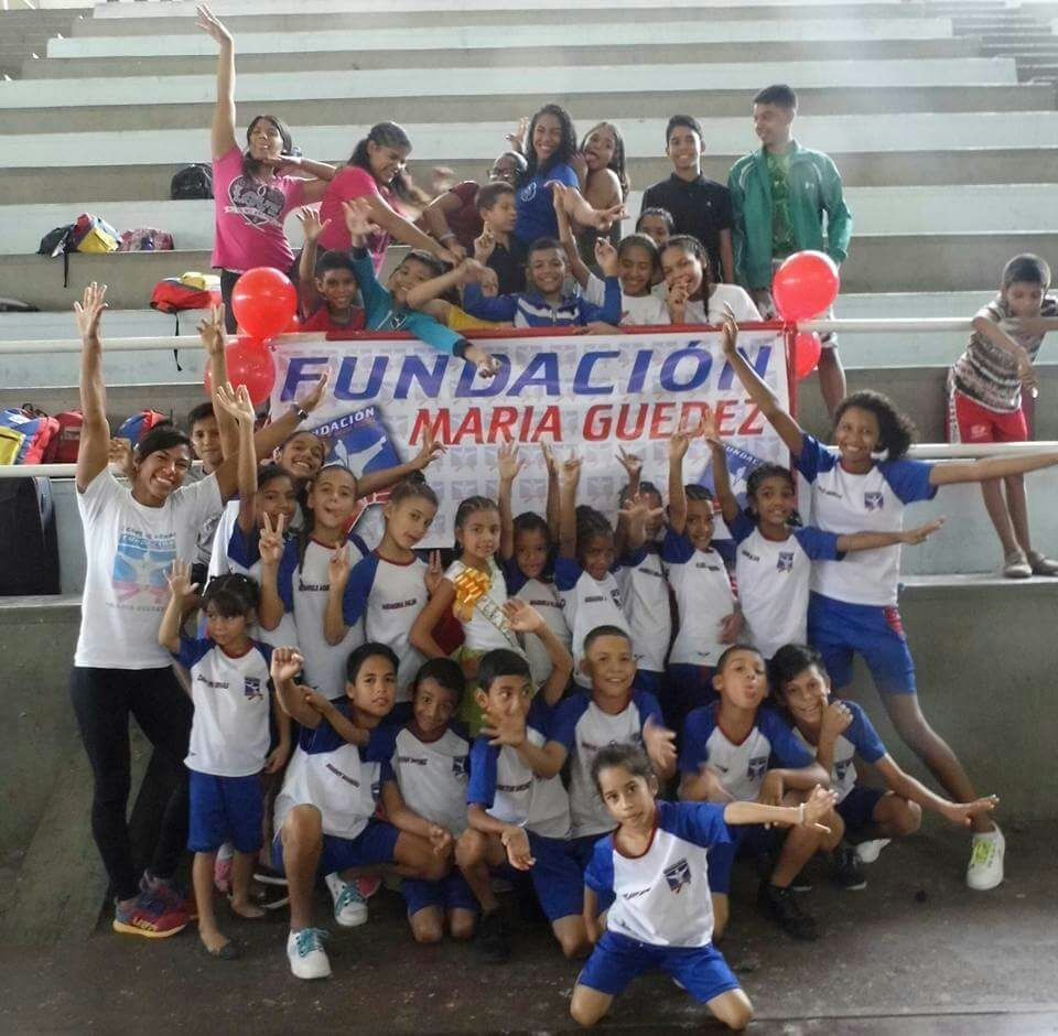 Sambo champion Maria Guedez, far left, set up a foundation in her homeland of Venezuela to help underprivileged children ©Maria Guedez Foundation