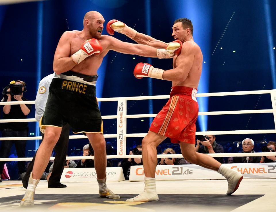 Britain's defeated Ukraine's Wladimir Klitschko to win the world heavyweight title at  Düsseldorf in November 2015 ©Getty Images