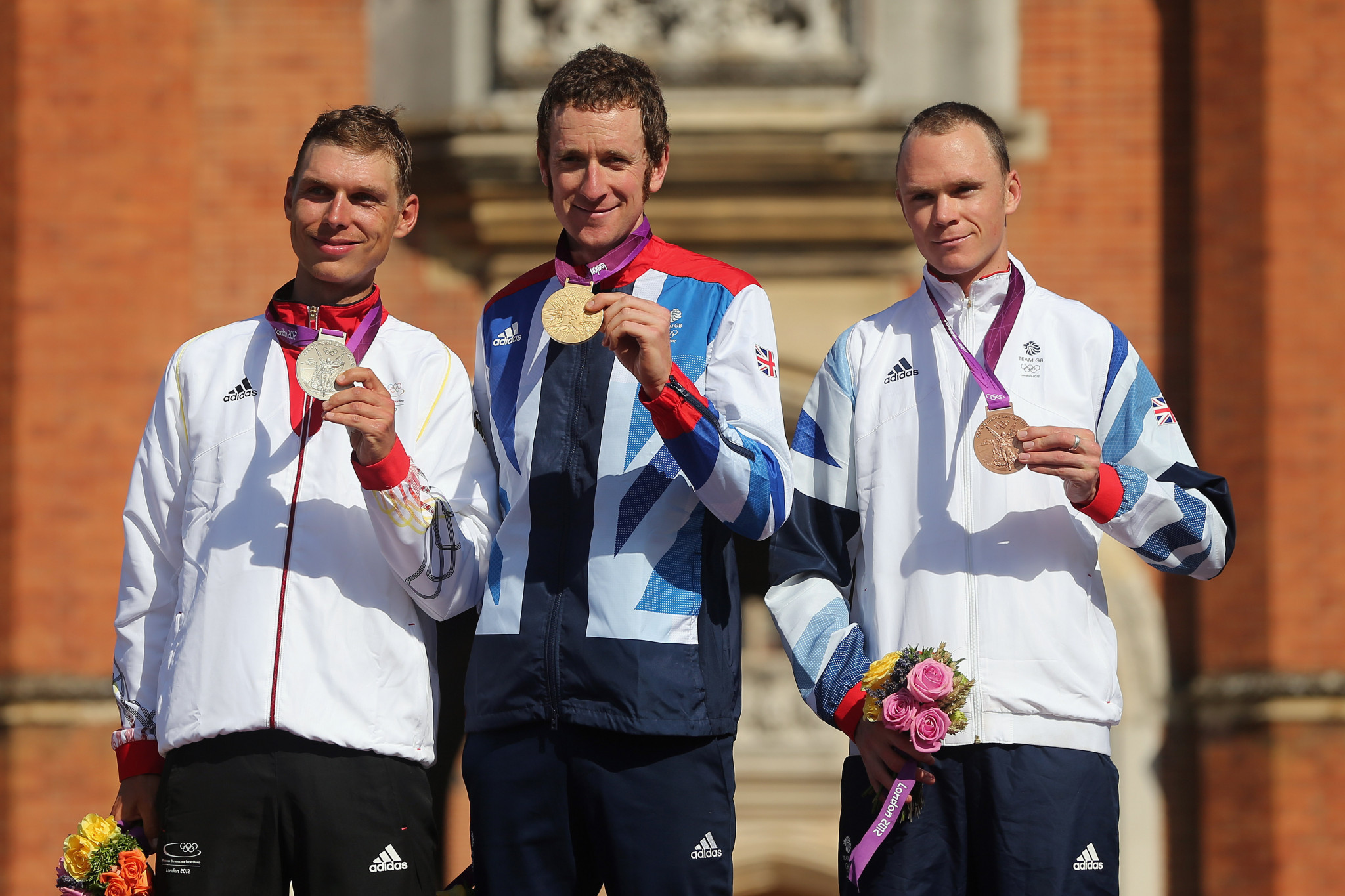 Tony Martin, left, won a silver medal at the London 2012 Olympics as Chris Froome, right, took bronze ©Getty Images