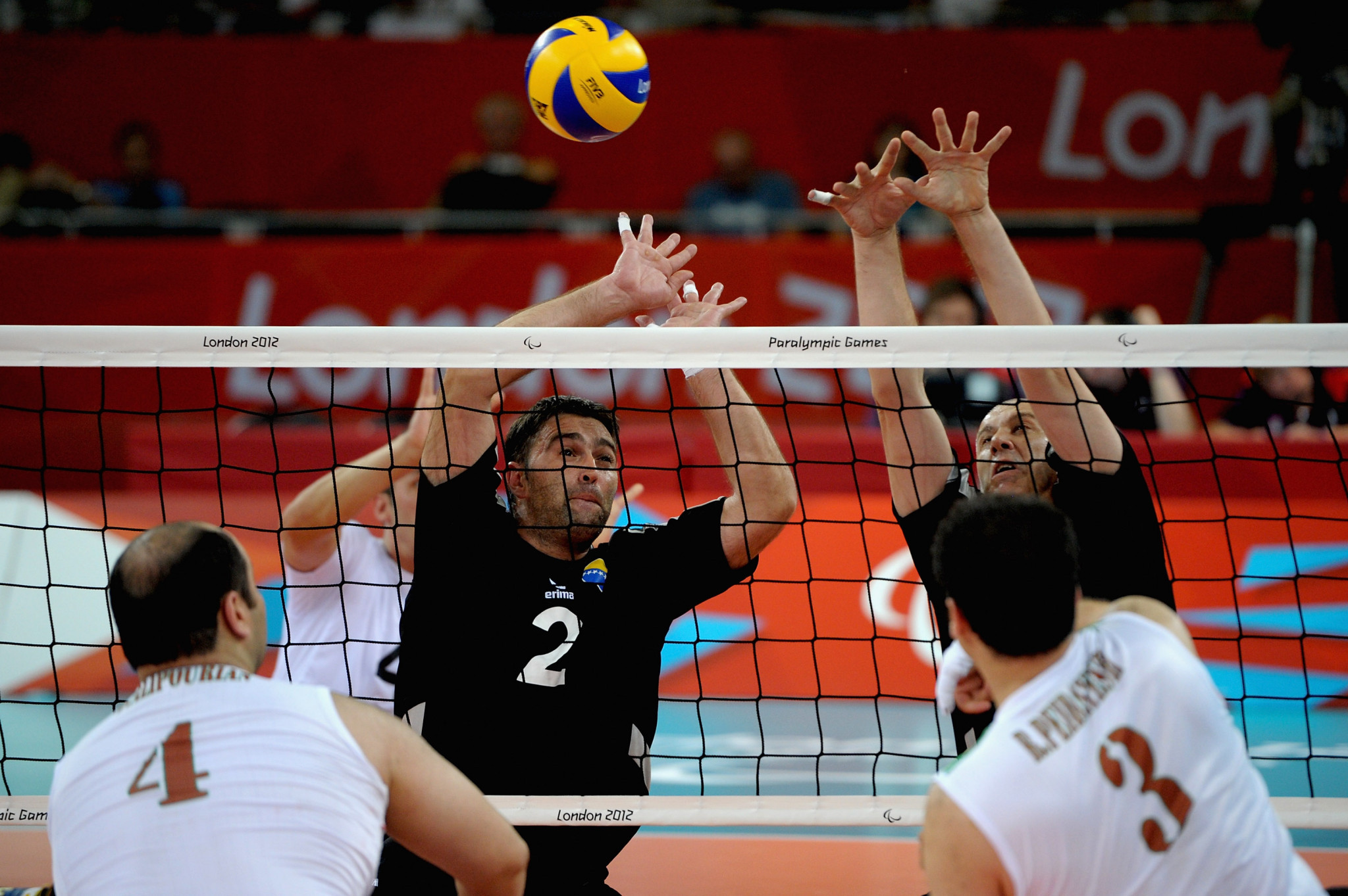 Jonathan Moore helped organise the London 2012 sitting volleyball tournament ©Getty Images