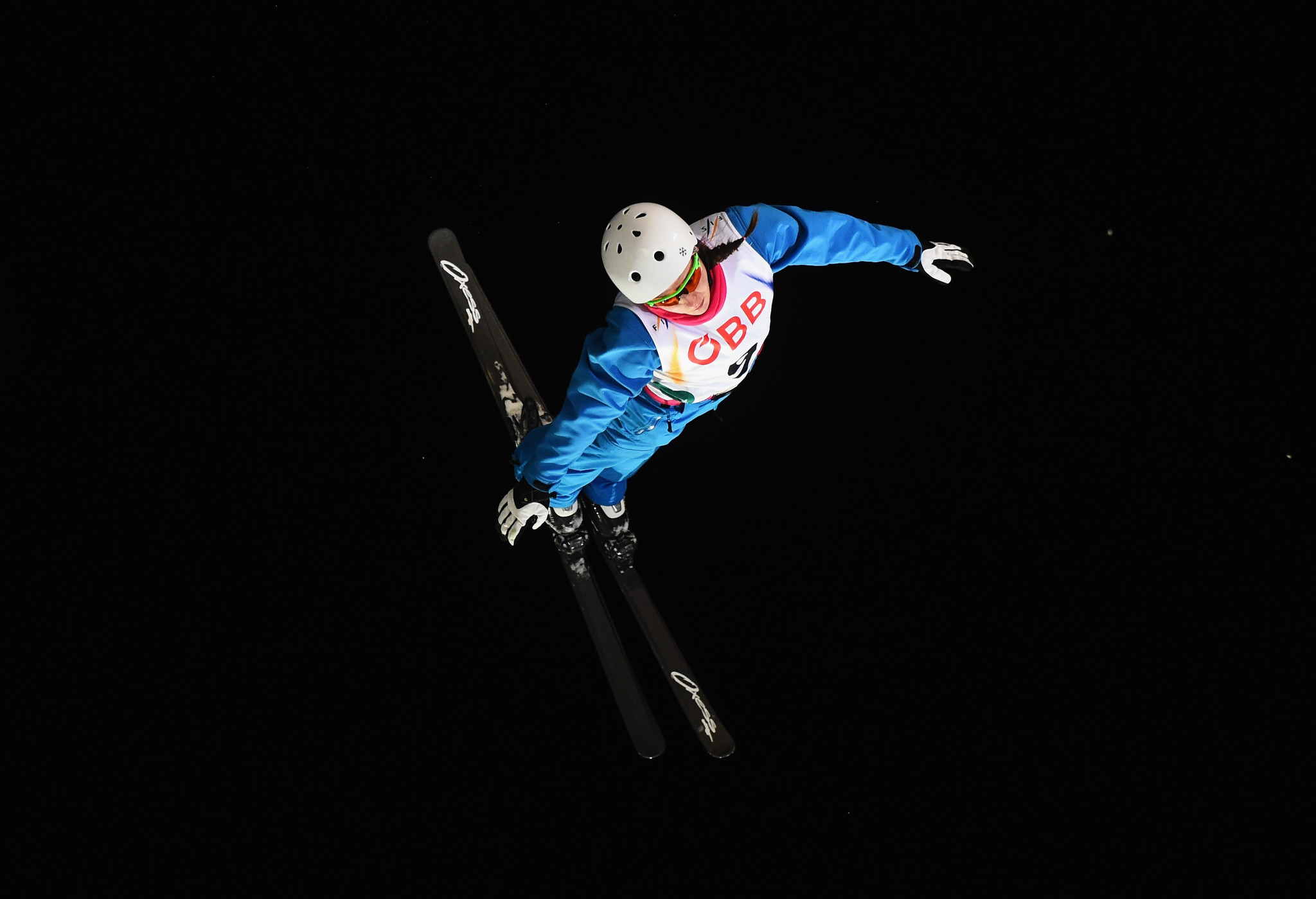 Hanna Huskova put in a strong performance to take gold in the FIS Freestyle Aerials World Cup event in Secret Garden ©Getty Images
