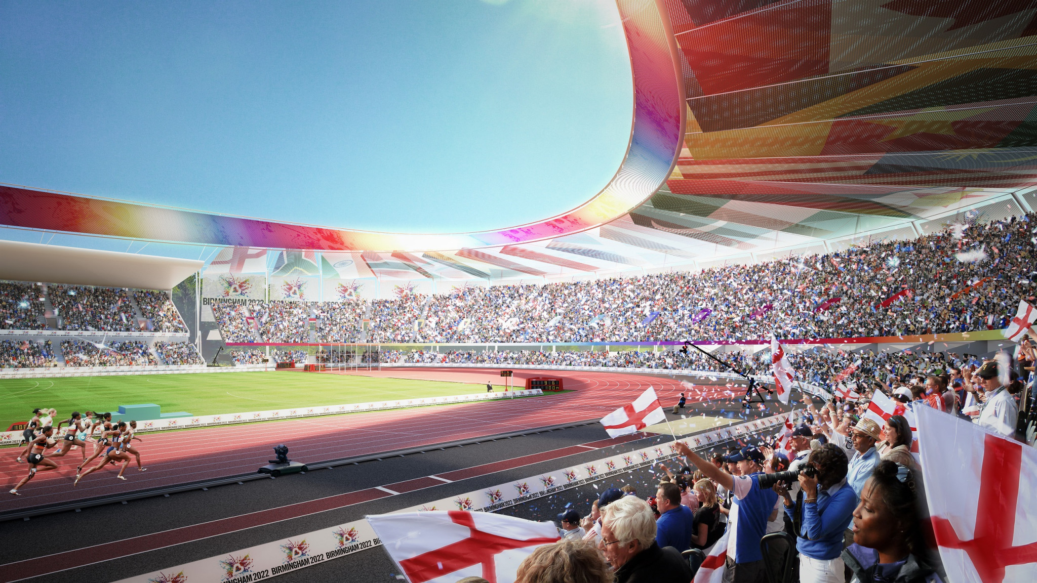 Alexander Stadium will be revamped for Birmingham 2022 and be the centrepiece of the Commonwealth Games ©Birmingham 2022