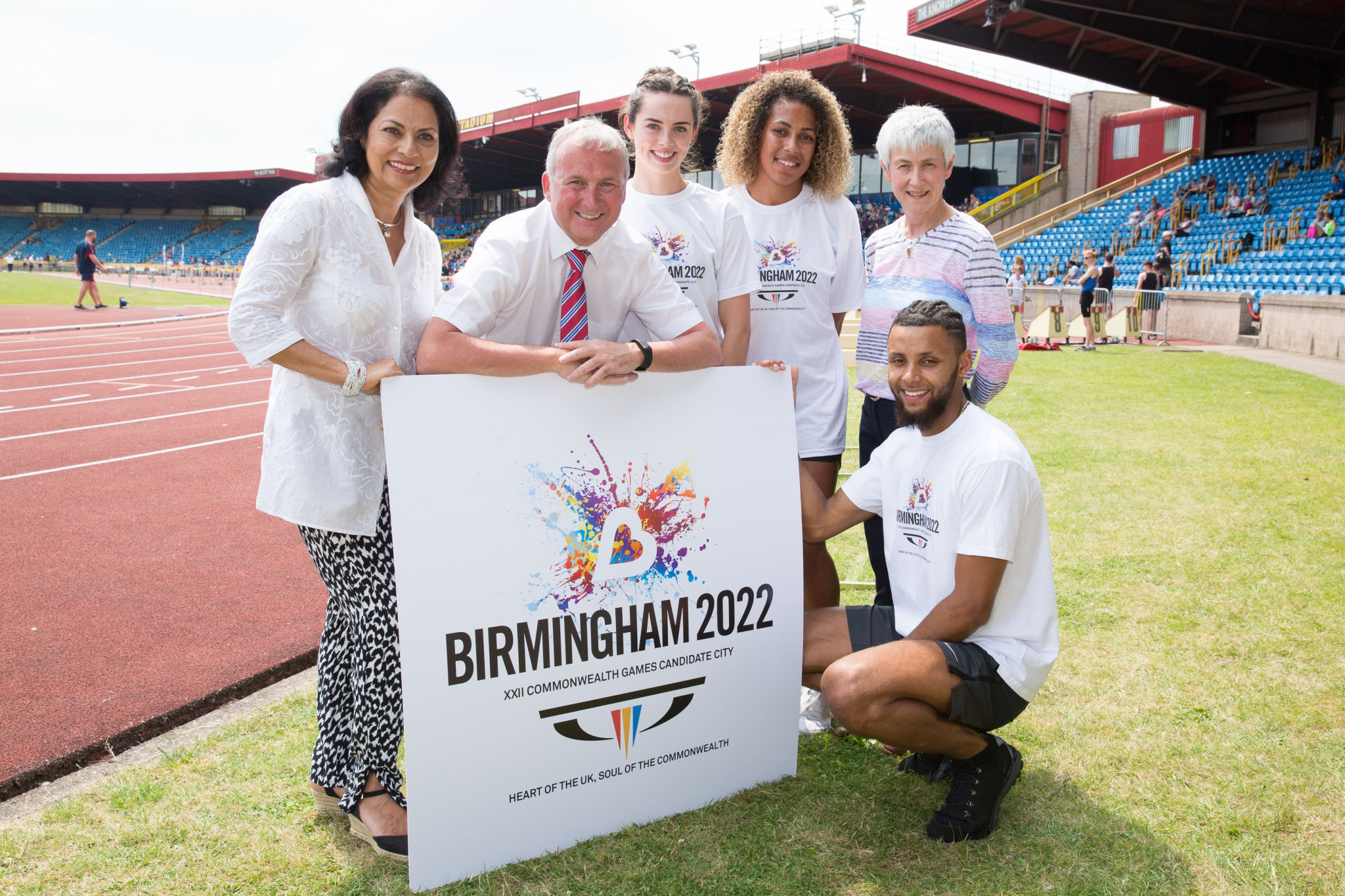 Birmingham City Council Leader and head of the bid for the 2022 Commonwealth Games Ian Ward, second left, helped persuade Councillors to back a new financial offer ©Birmingham 2022