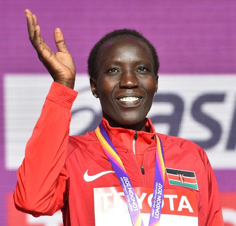 Kenya's Edna Kiplagat has been declared the winner of Series X of the World Marathon Majors ©Getty Images