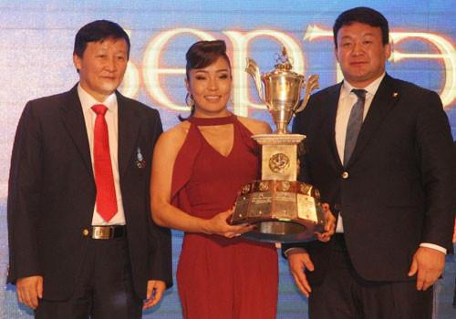 Judoka Dorjsuren crowned Mongolian NOC's athlete of the year