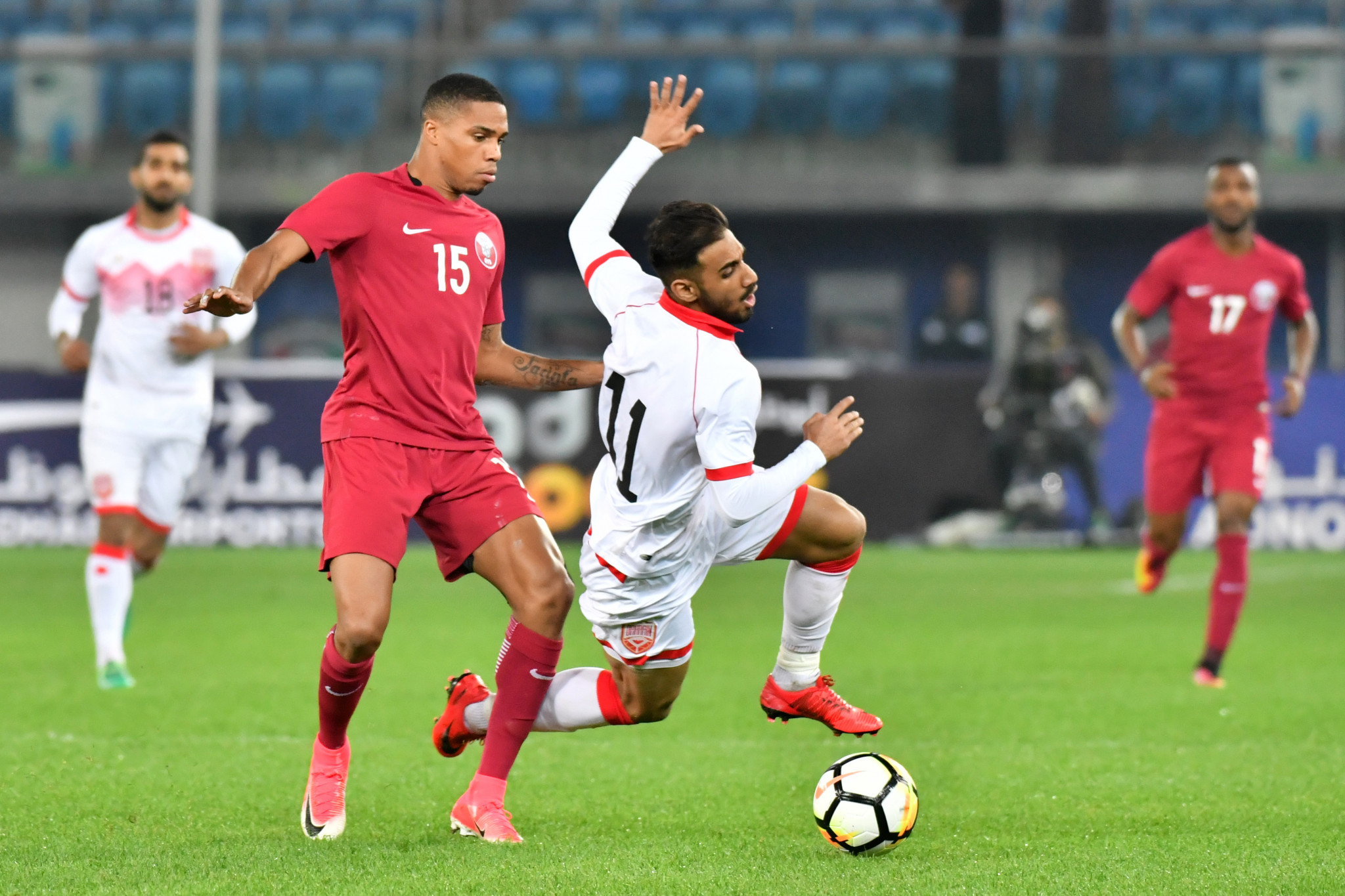 Defending champions Qatar crash out of Gulf Cup of Nations after draw with Bahrain