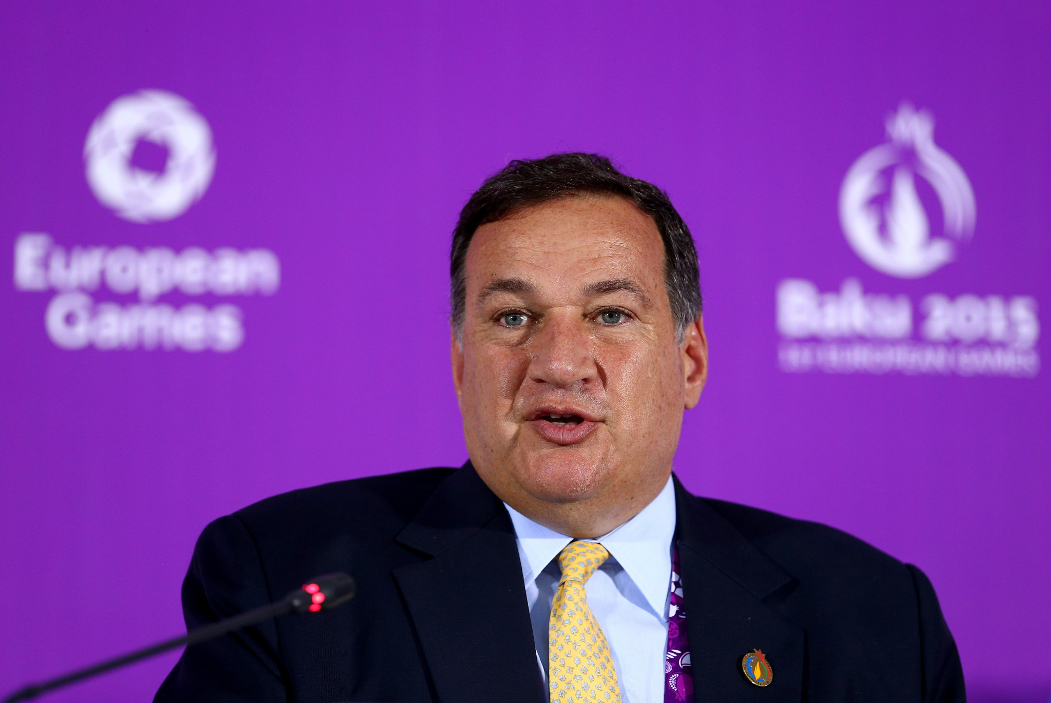 Coordination commission chair Spyros Capralos stated revenue would be split equally between the EOC and Minsk 2019 ©Getty Images