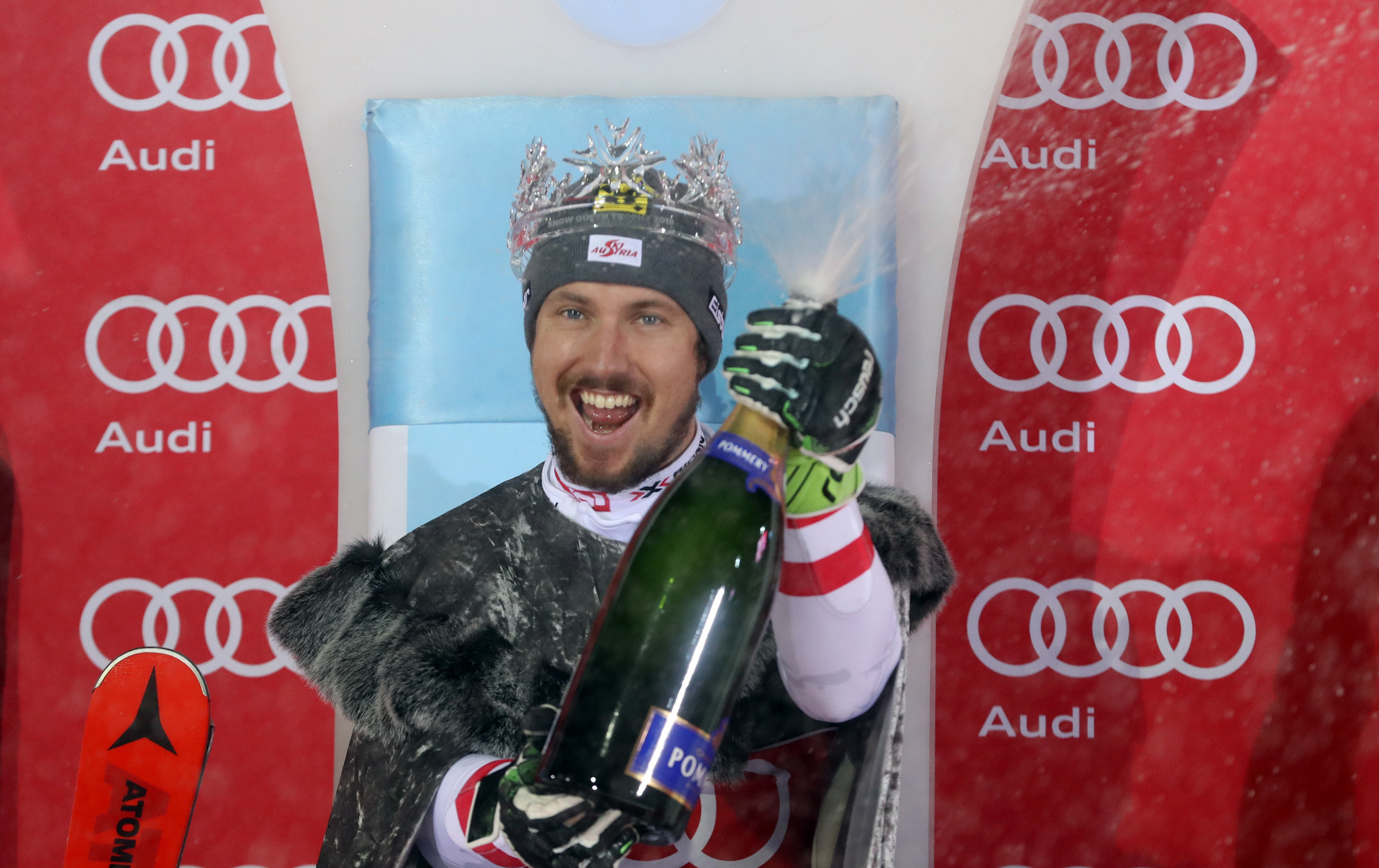 Marcel Hirscher won the Snow Queen Trophy at the FIS Alpine Skiing World Cup event in Zagreb ©Getty Images
