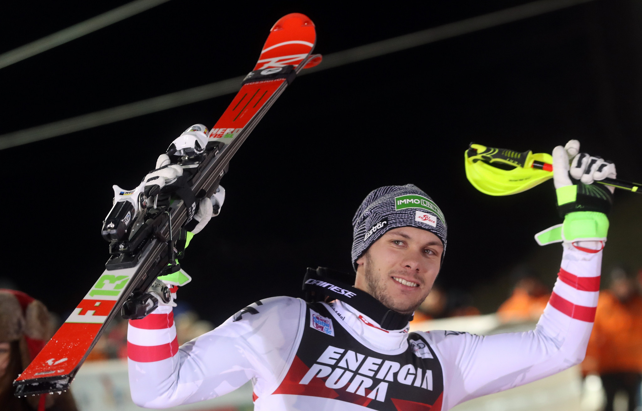 Michael Matt finished just 0.05 seconds beyond Hirscher to claim silver on Sljeme ©Getty Images