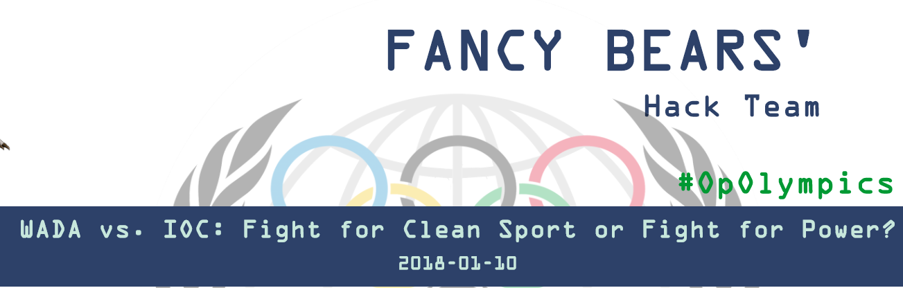 Fancy Bears have attempted to blow open the split between WADA and the IOC ©Fancy Bears