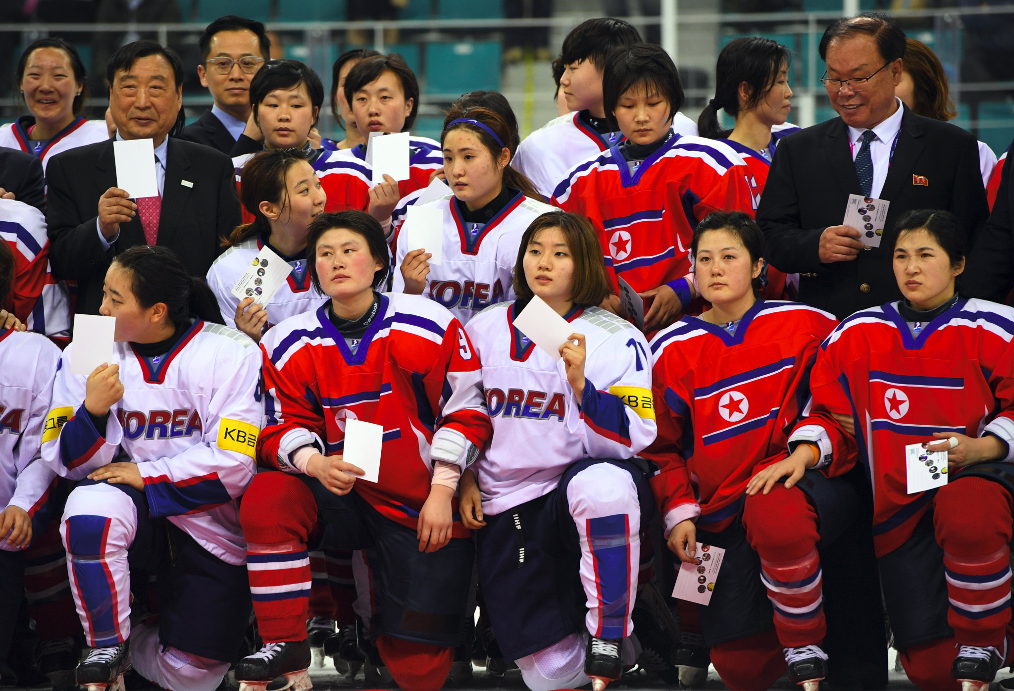 South Korea are hoping to expand the size of their women's ice hockey team to accommodate players from North Korea ©Getty Images