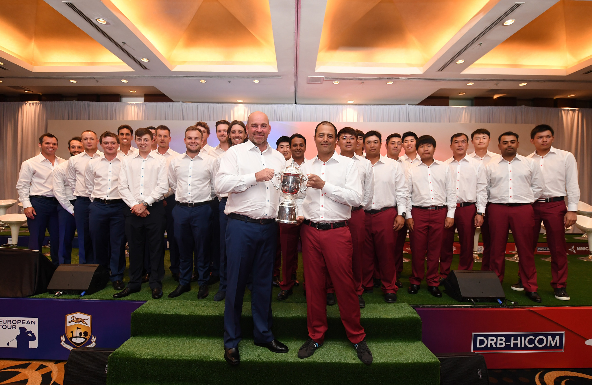 Europe  looking to fight back against Asia on day two of the EurAsia Cup in Malaysia