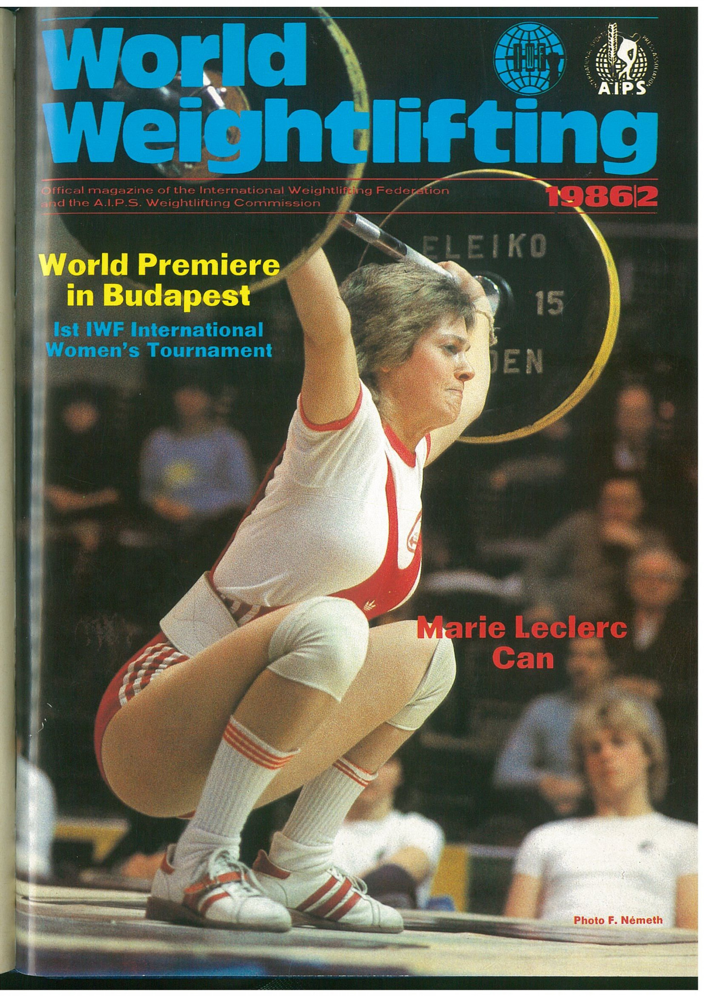 Marie Leclerc of Canada was the first woman to feature on the cover of World Weightlifting Magazine ©IWF