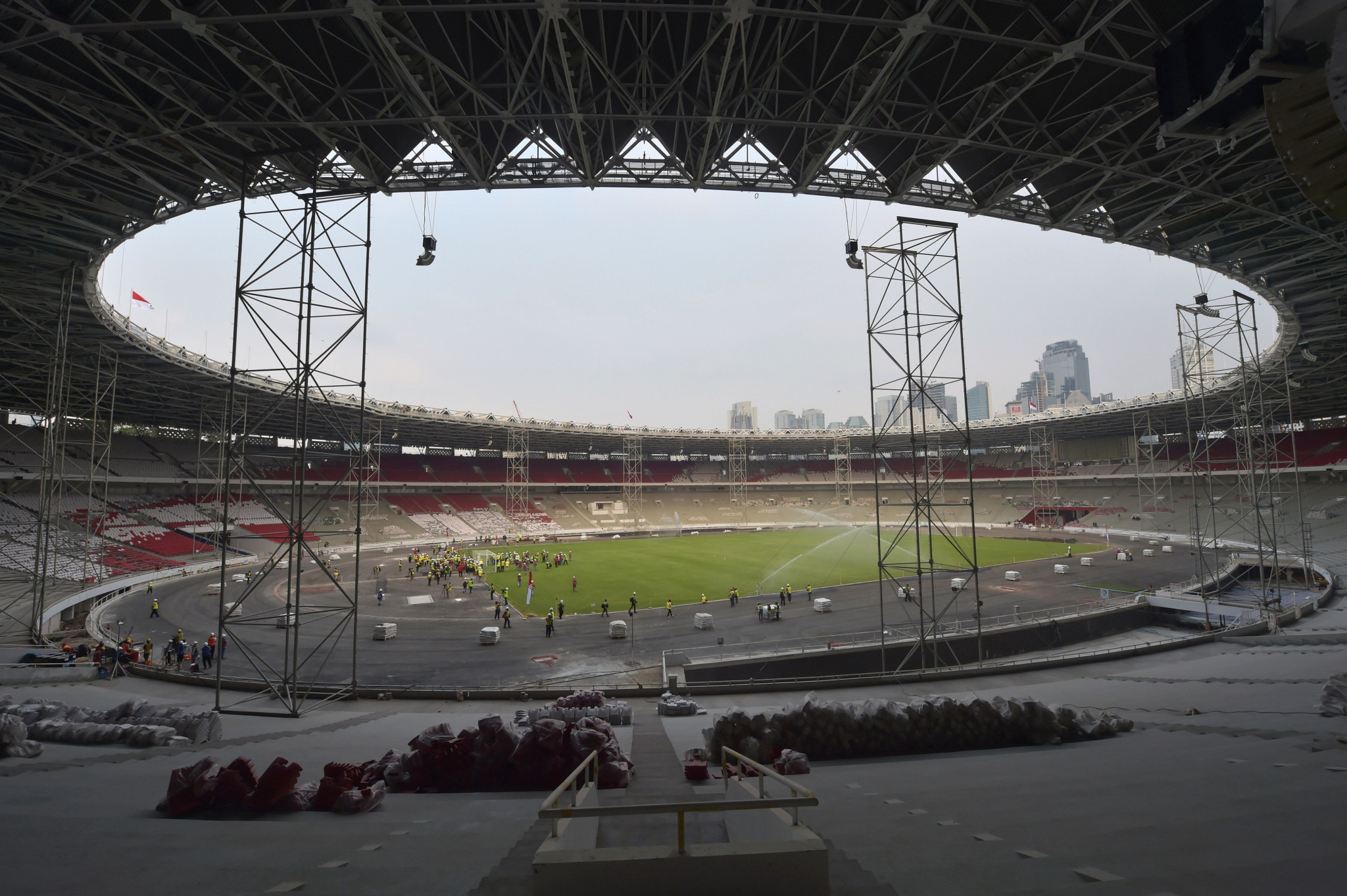 Renovations were carried out at the Gelora Bung Karno Stadium ©Getty Images